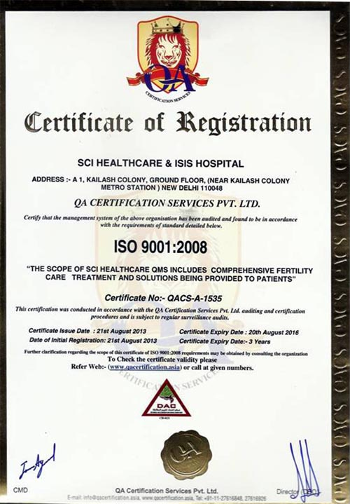 Registration Certificates of ISIS Hospital and SCI Healthcare